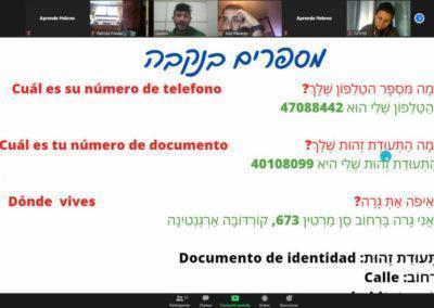 Clase en vivo hebreo